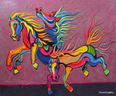 Dancing-Horses-48-x-36-oil